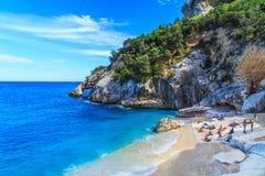 Cala Goloritze海滩, Sardegna 免版税库存照片