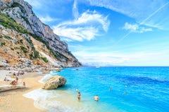 Cala Goloritze海滩, Sardegna 图库摄影