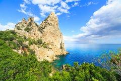 Cala Goloritze beach, Sardegna. A view of Cala Goloritze beach, Sardegna stock image