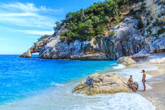 Cala Goloritze beach, Sardegna. A view of Cala Goloritze beach, Sardegna Stock Photos