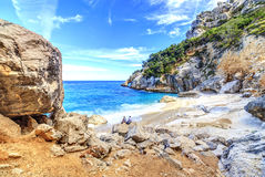 Cala Goloritze beach, Sardegna. A view of Cala Goloritze beach, Sardegna Stock Images