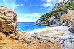 Cala Goloritze strand, Sardegna Stock Afbeeldingen