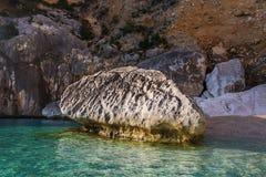 Cala Goloritze strand, Sardinia, Italien arkivbild