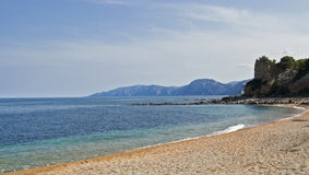 Cala Gonone Beach. View of the famous beach in Cala Gonone, Sardinia Royalty Free Stock Photography