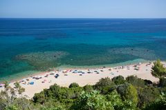 Cala Gonone beach, Sardinia Royalty Free Stock Photo