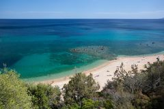 Cala Gonone beach, Sardinia Royalty Free Stock Photos