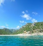 Cala Gonone coastline seen from the sea Royalty Free Stock Photography