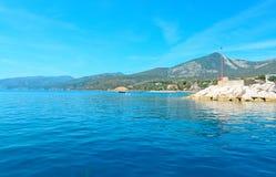 Cala Gonone haven royalty-vrije stock afbeeldingen