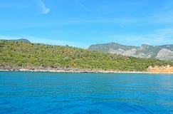 Cala Gonone kust stock foto