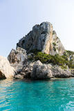 Cala Gonone. Rocks and caves around the coast of Cala Gonone, Sardinia Royalty Free Stock Images