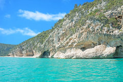 Cala Gonone rocks Stock Photography