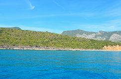 Cala Gonone shore. Line on a clear day Stock Photo