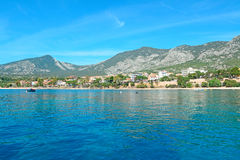 Cala Gonone shoreline Royalty Free Stock Images