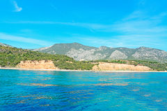 Cala Gonone water Royalty Free Stock Images