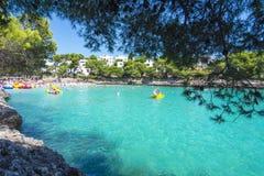 Cala Gran baai in Cala D ` of, Mallorca, de Balearen, Spanje stock foto