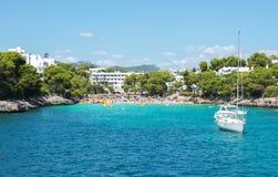 Cala Gran bay in Cala D`Or, Mallorca, Balearic islands, Spain Royalty Free Stock Photo