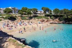 The Cala Gran bay on Mallorca Stock Photos