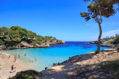 The Cala Gran bay on Mallorca Stock Images