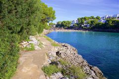 Cala Gran, Mallorca. Clean waters of Cala Gran, Majorca Royalty Free Stock Images