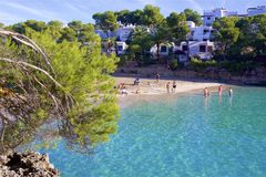Cala Gran, Mallorca. Clean waters of Cala Gran, Majorca Royalty Free Stock Photography