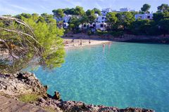 Cala Gran, Mallorca. Clean waters of Cala Gran, Majorca Stock Photography