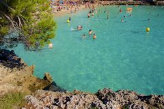 Cala Gran, Mallorca. Clean waters of Cala Gran, Majorca Royalty Free Stock Photos