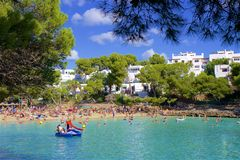 Cala Gran, Mallorca. Clean waters of Cala Gran, Majorca Stock Images