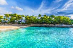 Cala Gran strand in Cala D 'of stad, Palma Mallorca Island, Spanje stock afbeeldingen