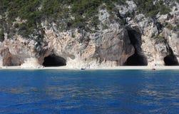 cala grottor östliga luna sardinia Fotografering för Bildbyråer