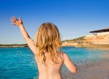cala ibiza χεριών χαιρετισμού κορ&i Στοκ Φωτογραφία