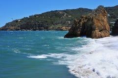 Cala Illa Roja beach in the Costa Brava, in Catalonia, Spain Royalty Free Stock Images