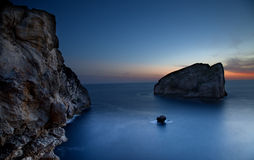 Cala Inferno at dusk Stock Images