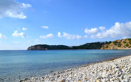 Cala Jondal beach in Ibiza, Spain Stock Photography
