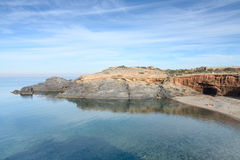 Cala Levante below the lighthouse of Cabo de Palos, S Royalty Free Stock Photography