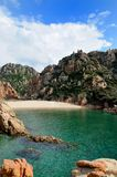 Cala Li Cossi. Is a beautiful beach in the north of Sardinia, Italy Royalty Free Stock Photo