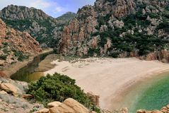 Cala Li Cossi. Is a beautiful beach in the north of Sardinia, Italy Stock Photo