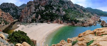 Cala Li Cossi. Is a beautiful beach in the north of Sardinia, Italy Royalty Free Stock Image
