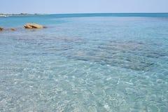 海Cala Liberotto 库存图片