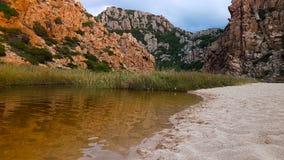 Cala licossi, Sardinia Arkivfoto