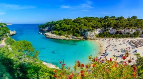Cala Llombards beach, Mallorca - Spain. Exotic bay resort in Cala Llombards beach, Mallorca island of Spain. Summer holiday in a paradise place royalty free stock photography