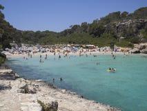 Cala Llombards, Majorca, España Foto de archivo libre de regalías