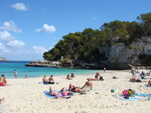 Cala Llombards in Majorca - Spain. View of beach Cala Llombards in Majorca - Spain Stock Images