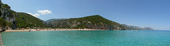 Cala Luna Bay panorama Royalty Free Stock Images