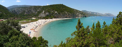 Cala Luna Bay panorama Royalty Free Stock Photo