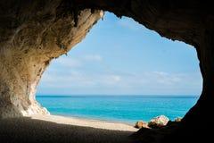 Cala Luna beach. In Cala Gonone, Sardinia, Italy stock photo