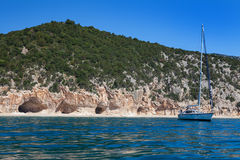 Cala Luna on a clear day, Sardinia Royalty Free Stock Photography