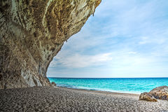 Cala Luna cliff Royalty Free Stock Images