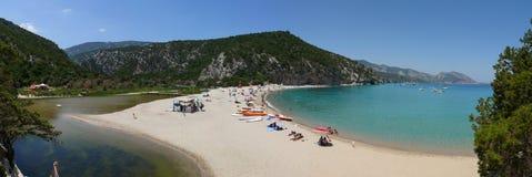 Cala Luna strand stock afbeelding