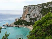 Cala Luna zatoka Obraz Royalty Free