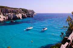 Cala Macarella beach in Menorca, Spain Royalty Free Stock Photography